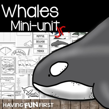 Whales Nonfiction Informational Text Unit with Digital Resource Boom Card Deck