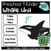 Whales - Preschool Unit complete with lesson plans, centers, worksheets