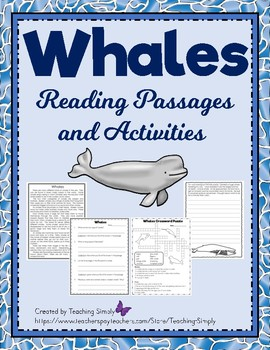 Whales Reading Passages and Activities