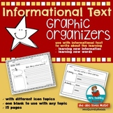 Informational Text  | ANY Topic | Graphic Organizer | Distance Learning