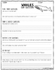 Whales by Gail Gibbons QAR Comprehension Questions with QAR Poster