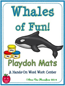 Whales of Fun! Playdoh Activity Pack