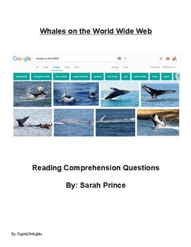 Whales on the World Wide Web Reading Comprehension Questions