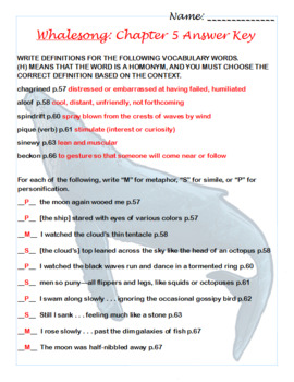 Whalesong by Robert Siegel, a Study Guide by Annika Saavedra