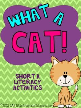 What A Cat! Short a Literacy Activities {4}