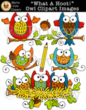 """What A Hoot!"" Owl Clipart Images [Marie Cole Clipart]"