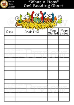 """""""What A Hoot!"""" Owl Reading Charts, Reading Awards, & Bookmark Printables"""