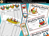 """What A Hoot!"" Owl Reading Charts, Reading Awards, & Bookm"