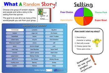 What A Random Story! Smartboard Game