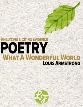 What A Wonderful World (Common Core Poetry)
