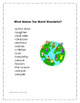 What A Wonderful World Music Reponse Class Activity for Pe
