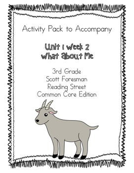 What About Me Activity Pack Scott Foresman Reading Street Common Core