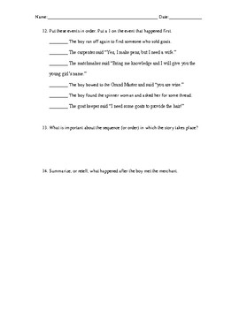 Reading Street- What About Me? Comprehension Worksheet