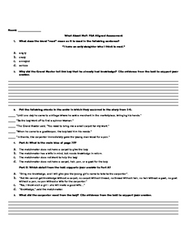 What About Me? - FSA Aligned Assessment