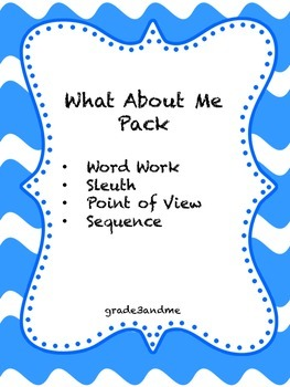 What About Me Literacy Activities