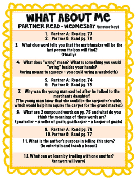 What About Me  Reading Street 3rd Grade Unit 1  Partner Read centers group work