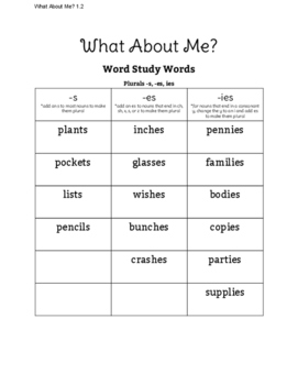 What About Me? Reading Street Vocabulary and Word Study Sort