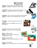 What About Me? Reading Street vocabulary