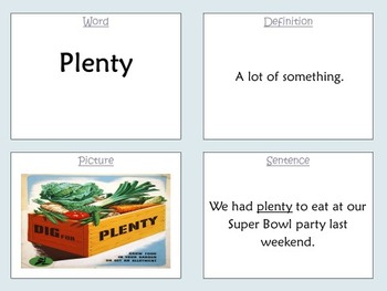 """Scott Foresman """"What About Me?"""" Challenging Vocabulary Powerpoint"""
