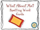 What About Me Spelling Word Cards