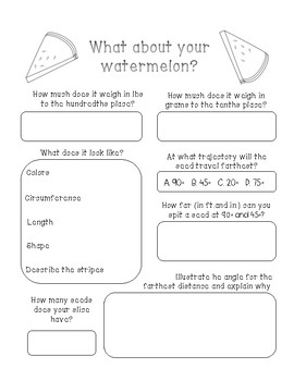 What About Watermelons - A Language Activity