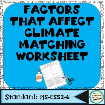What Affects Climate Printable Worksheet or Game
