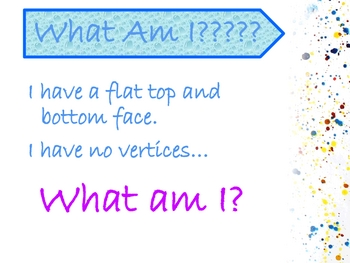 What Am I??? A Geometry Review Game