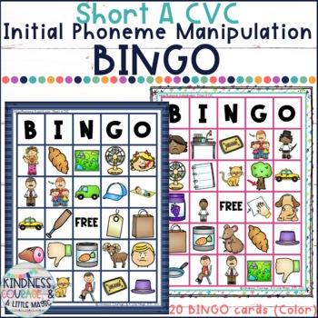 What Am I? Bingo (Short A CVC - Initial Phoneme Manipulation)