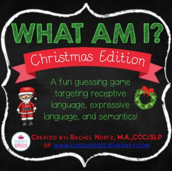 What Am I? Christmas Edition {A Describing Game}