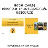 Boom Cards: What Am I? Distance Learning Activity