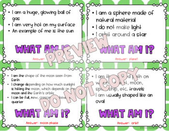 What Am I? Important Things In Earth Science *Game* - 4th Grade