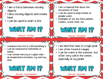 What Am I? Important Things In Science *Game* - 3rd Grade
