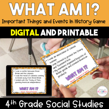 What Am I? Important Things and Events in History Game - 4
