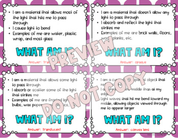 What Am I? Important Things in Life, Physical, and Earth Science Bundle - 4th