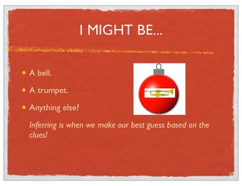 What Am I? Christmas/Holiday Inferring the Ornament Thinktivity