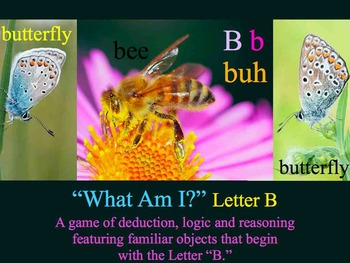 What Am I? Keynote Game Literacy letter B - Interdisciplin