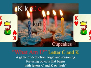 What Am I? Keynote Game Literacy letter C K - Interdisciplinary ESL SPED SUB