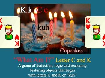 What Am I? Powerpoint Game Literacy letter C K - Interdisc