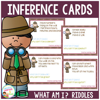 Inference What Am I? Riddle Cards