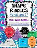 Shape Math Riddles for 2D Shapes Kindergarten and First Grade