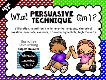 Persuasive Writing Techniques Game & Review