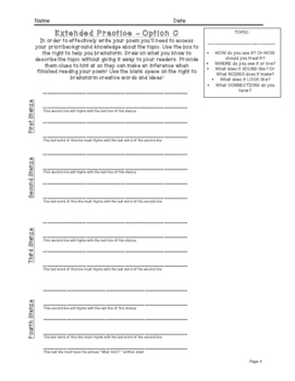 What Am I? Poetry - Scaffolded Writing Activity