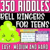 What Am I Riddles Bell Ringers Brain Teasers Mega Bundle (