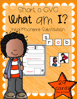 What Am I? (Short O CVC - Initial Phoneme Manipulation)