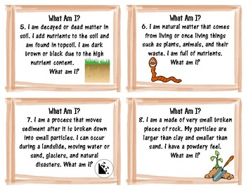 What Am I? Soil Literacy Card Activity