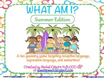 What Am I? Summer Edition {A Describing Game}