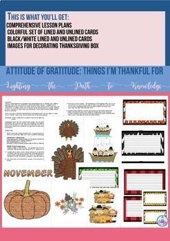 Attitude of Gratitude:Things I'm Thankful For (Grades 4-6)