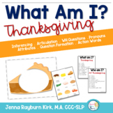 What Am I? Thanksgiving Free Speech Therapy