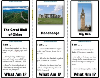 What Am I: The World Geography Edition (Classroom Trivia and Review Flash Cards)