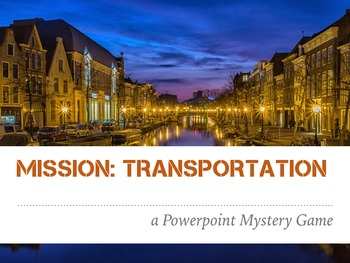 Transportation Mystery Game - Powerpoint 1st 2nd Deaf Hearing Impaired ESL SPED